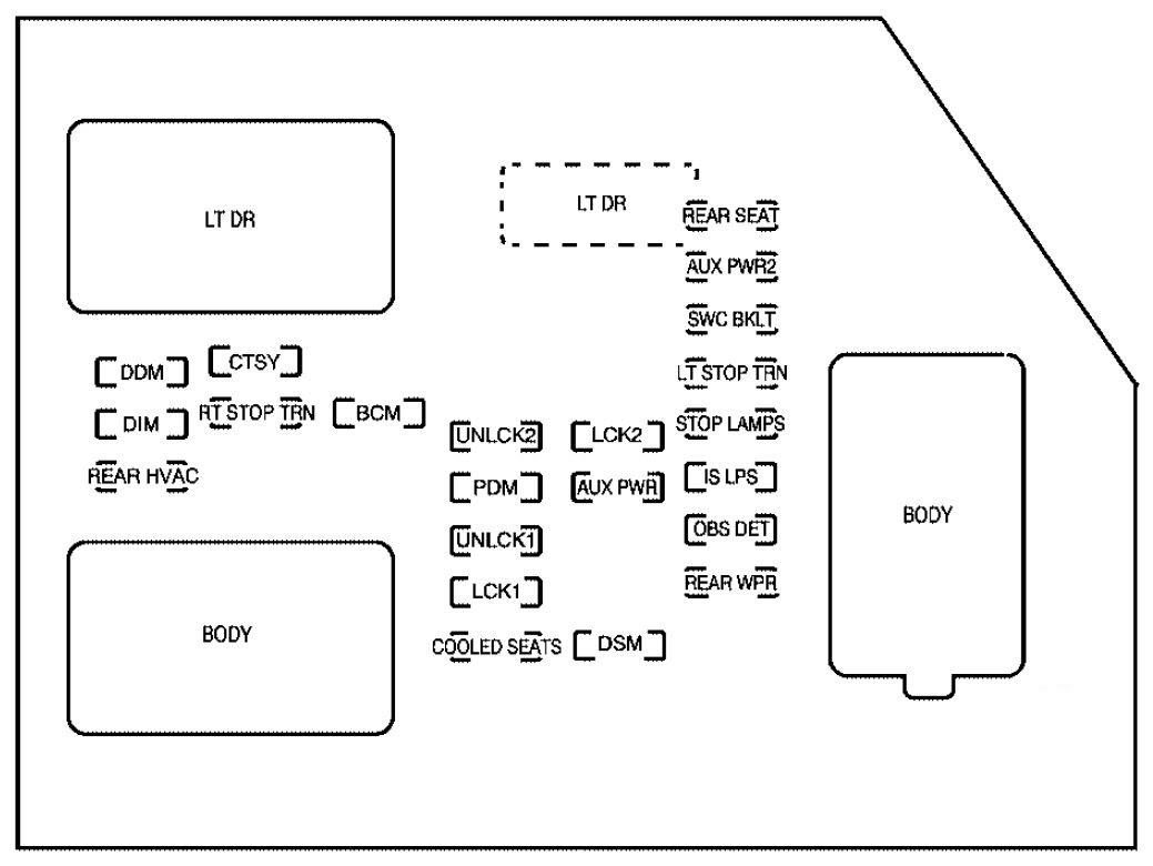 Cadillac Escalade 2007 Fuse Box Diagram Auto Genius