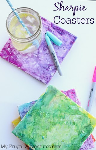 Sharpie Dyed Coasters - Fun Children's Craft by My Frugal Adventures