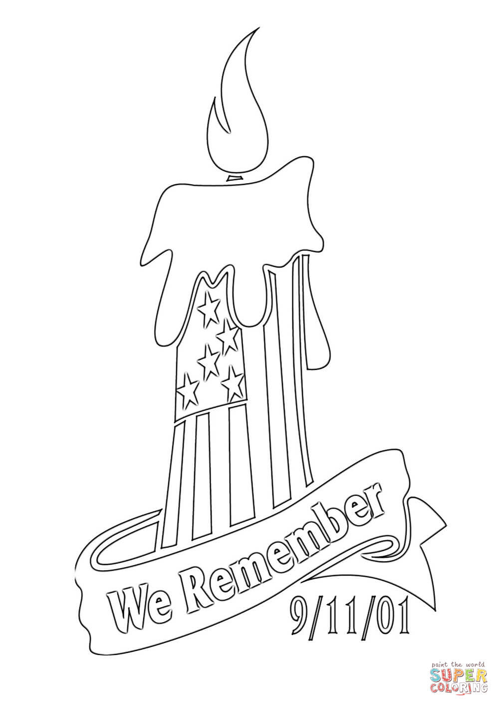 We Remember 9-11-01 coloring page | Free Printable Coloring Pages