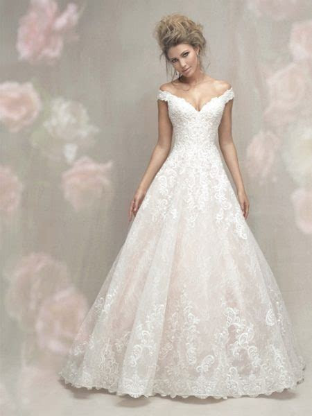 Cap Sleeve Off The Shoulder Lace Ball Gown Wedding Dress