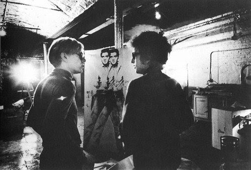 "Music History on Twitter: ""Andy Warhol and Bob Dylan """