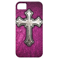 Pink Cross iPhone 5 Cases