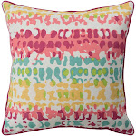 """Technicolor Pillow Cover - Mustard, Coral, Bright Pink, Mint, Lime, Ivory - TEC023 Technicolor - 18"""" x 18"""" Pillow Cover - Knife Edge - TEC023"""