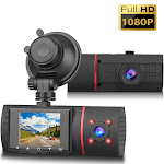 1080P Car Dual Dash Camera with Loop Recording and Night Vision