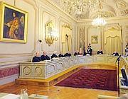 Una veduta dall'interno della sede della Corte Costituzionale