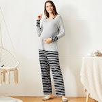 Grey Maternity Pajama Sets
