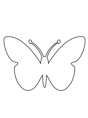 Versatile image within printable butterfly template