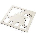 Genie Crafts 2-Piece Unfinished Wooden Stegosaurus Dinosaur Cutout, Wall Art Decor for Painting, DIY Wood Crafts, and Signs, 11.6 x 0.2 Inches