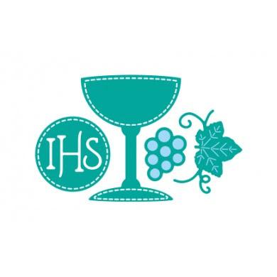 Kielich, hostia, winogrono
