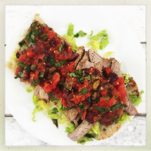 Steak Ciabatta with Italian Roast Tomato Salsa