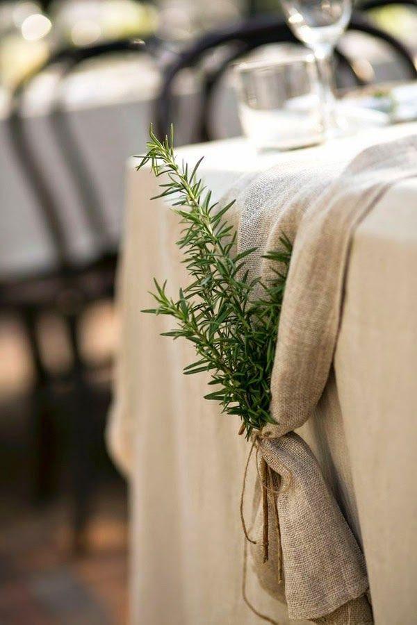 idea para doblar servilletas con ramas