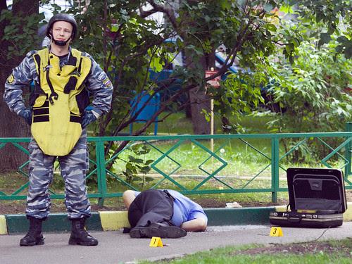 Сапер на месте убийства Юрия Буданова by hegtor