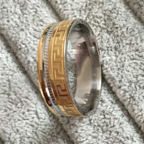 2015 new Brand Luxury large 8mm silve gold Plated two Tone