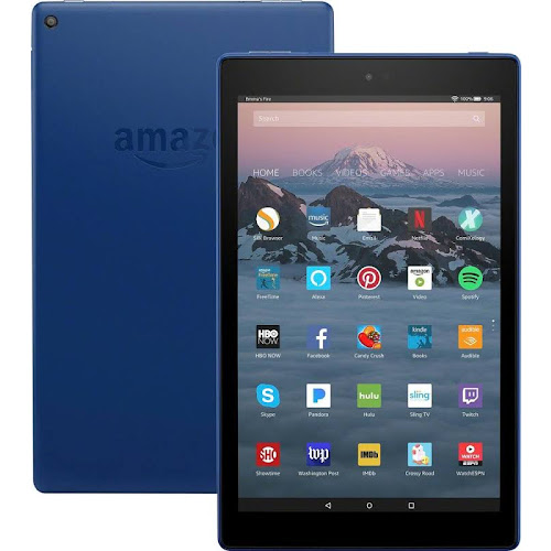 Amazon Fire HD 10 (7th Generation) - Wi-Fi - 32 GB - Marine Blue - with Special Offers - 10.1""