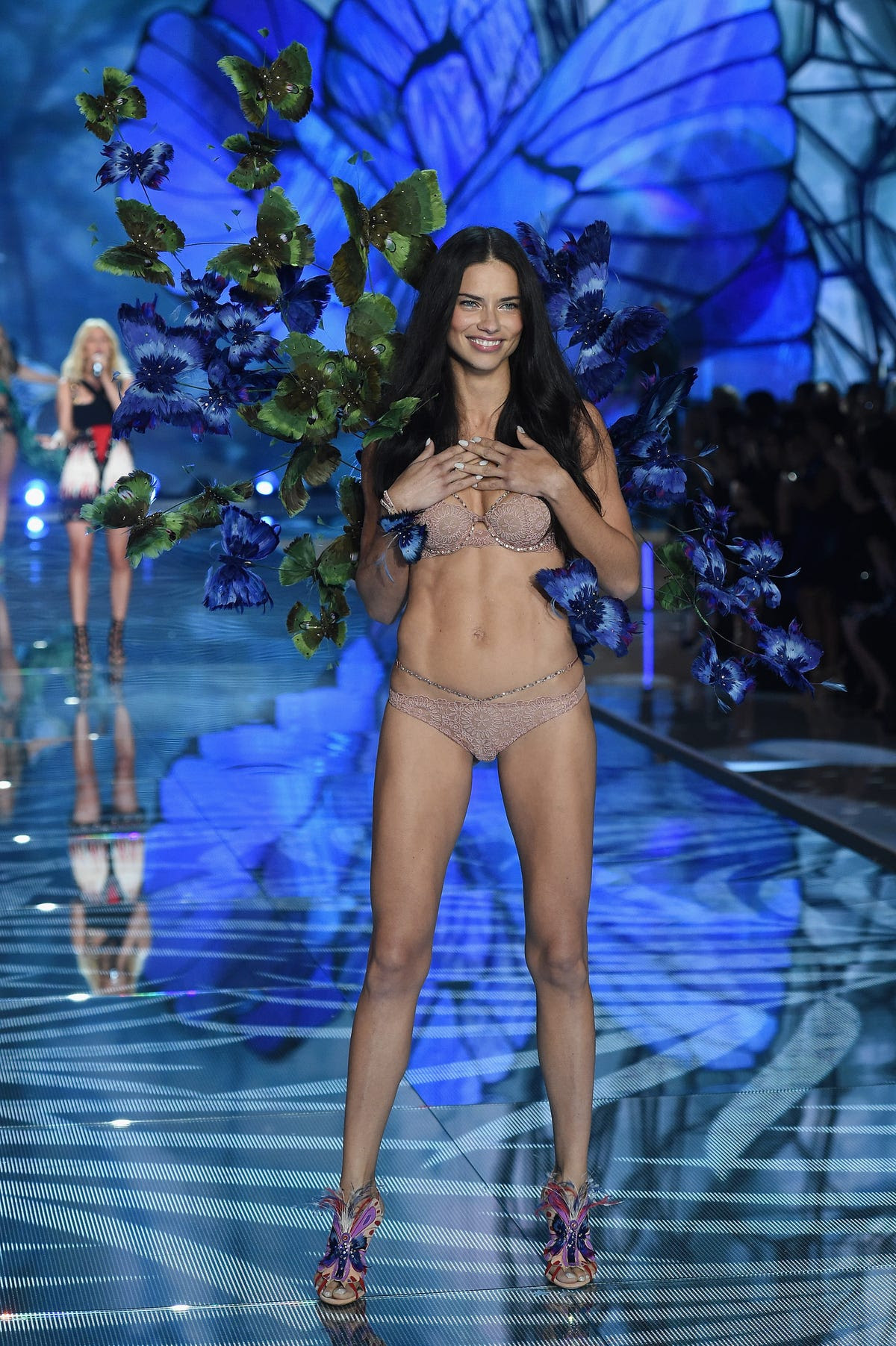 Unsurprisingly, Adriana Lima stunned in a skin-toned ensemble.