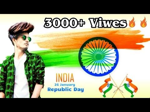 Republic day/26th January/pic editing by picsart in Hindi or Urdu/Picsart editing tutorial