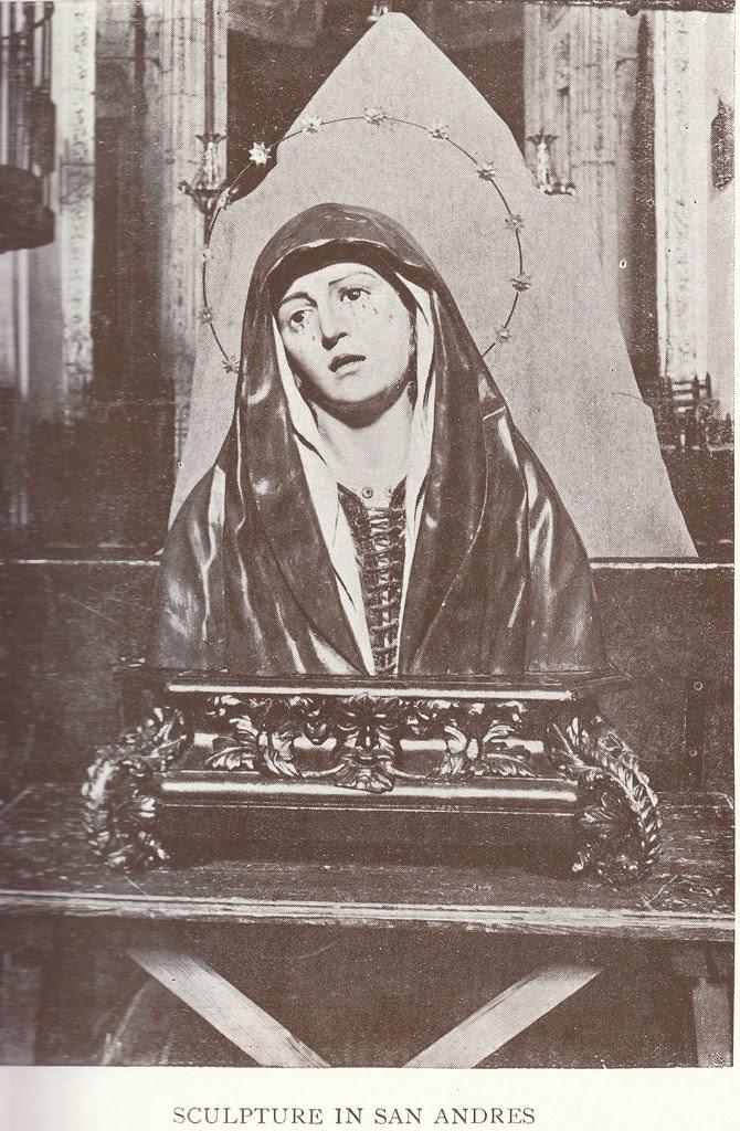Dolorosa de Pedro de Mena en la Iglesia de San Andrés hacia 1900
