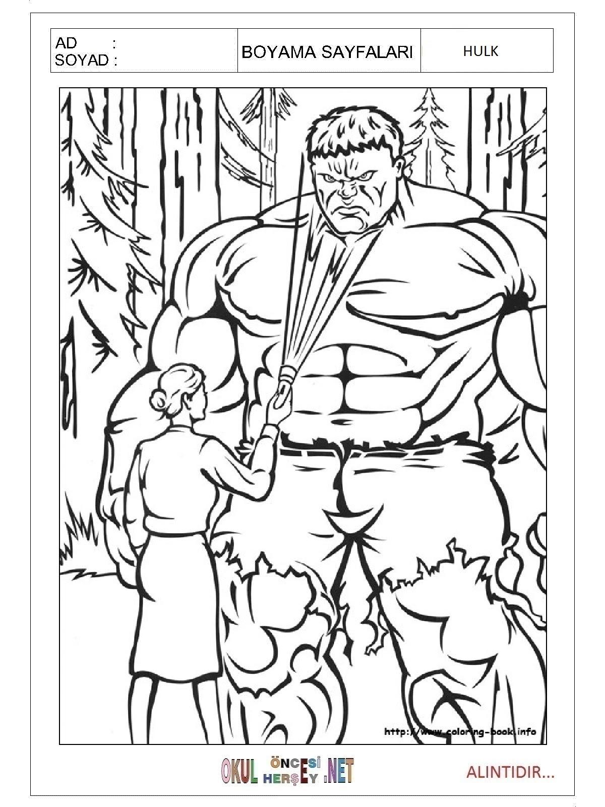 Hulk Boyama Sayfaları