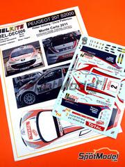 Belkits: Calcas escala 1/24 - Peugeot 207 S2000 Total Nº 2 - Petter Solberg (NO) + Chris Patterson (GB) - Rally de Montecarlo 2011 - para kit de Belkits BEL-001