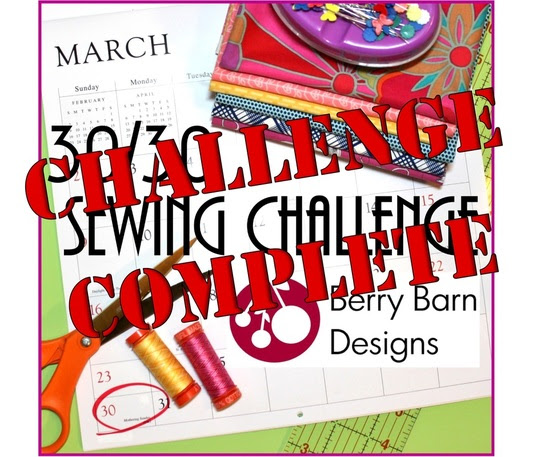 30/30 Sewing Challenge | Berry Barn Designs
