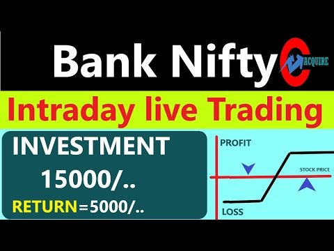 banknifty intraday live trading with regular profits| bank nifty hedging...