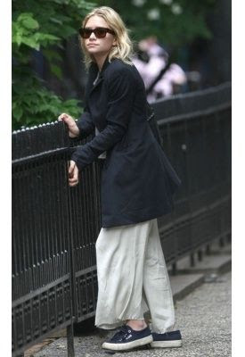 Ashley Olsen wearing Superga Classic Sneakers