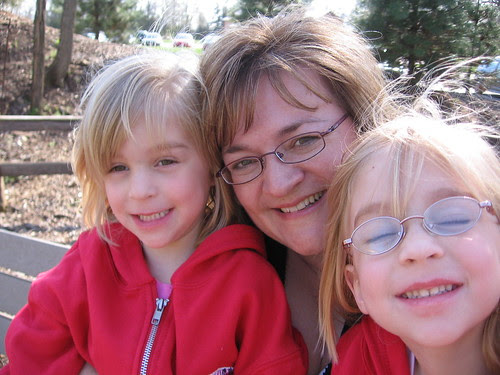 Mom and girls, self portrait