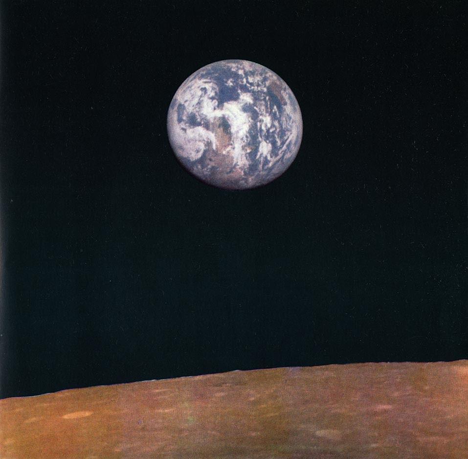 Foto della Terra vista dalla Luna, scattata da Zond 7