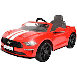 Rollplay Kids' 6 Volt Ford Mustang Ride on Car - Red - Great Gift Idea