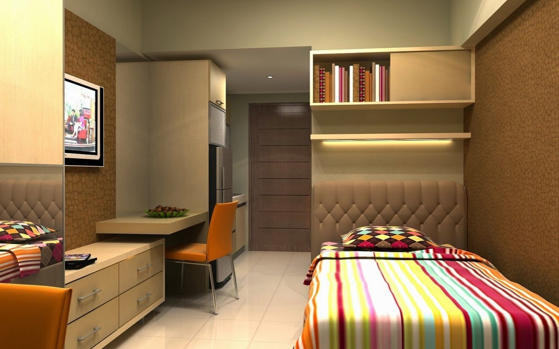 Timeless Modern Home Interior Furniture Design by Closet ...