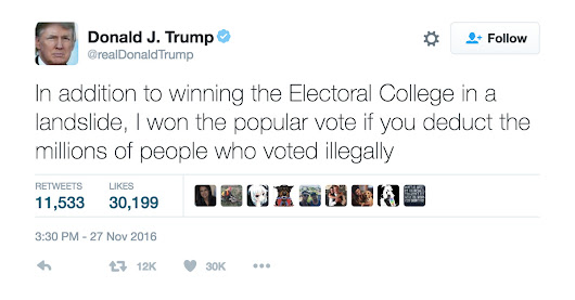 Donald Trump is now questioning the legitimacy of the election he won