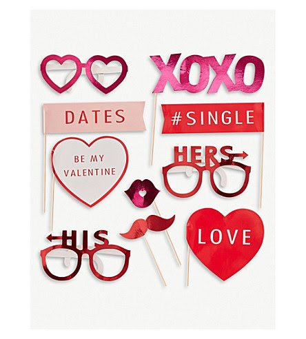 Ginger Ray Valentines Day Photo Booth Props Selfridgescom