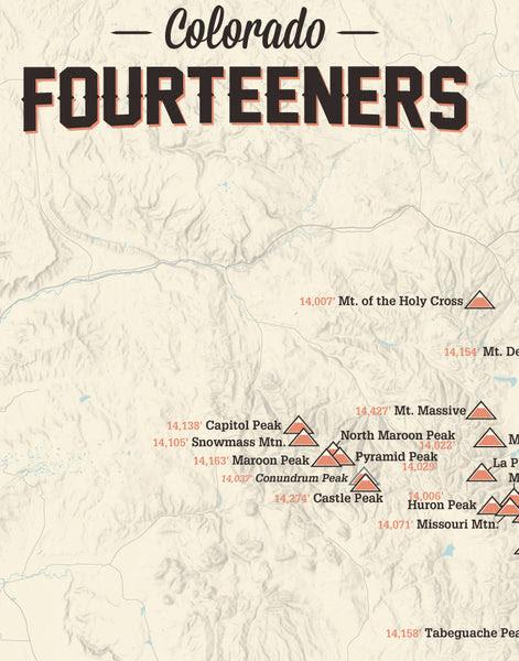 0021 Colorado 14ers map tan 02_grande