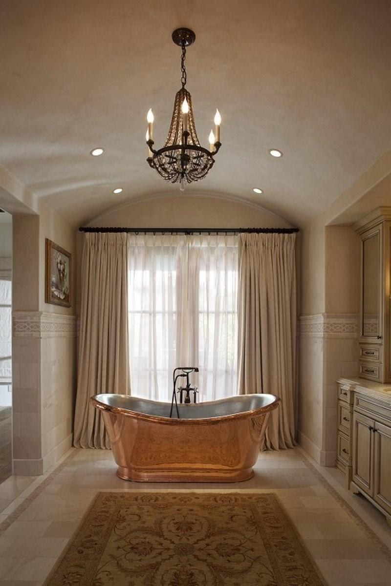 15 Bold Bathroom Designs with Copper Bathtub - Rilane