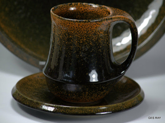 Details about  Mid Century Modern Rare Russel Wright THEME INFORMAL Ember Yamato Stoneware Set