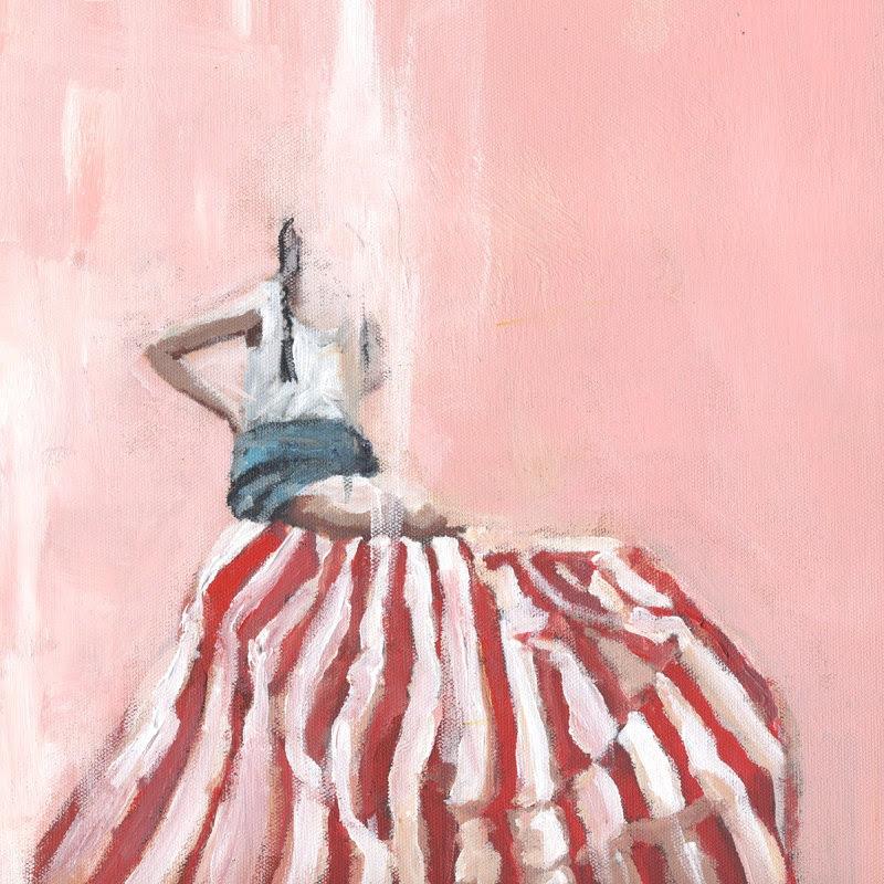 Red Striped Beach Blanket