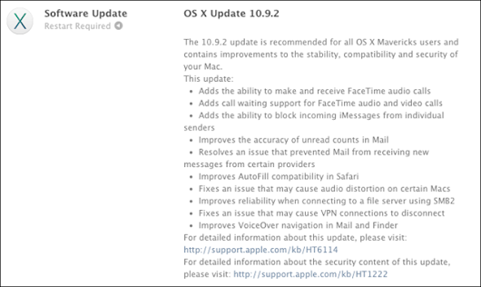 Apple releases OS X 10.9.2, fixes serious 'goto fail' flaw