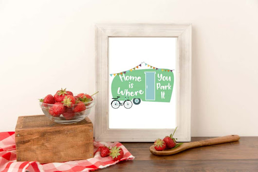 Free Cute Camper printable art - Home Pressure Cooking
