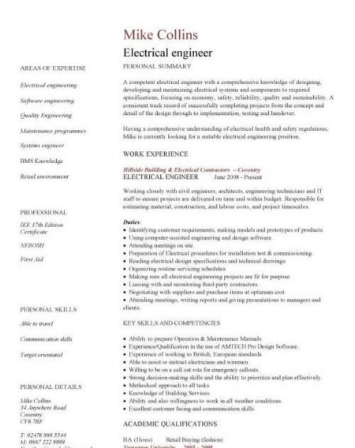 Bms Engineer Resume Download - BEST RESUME EXAMPLES