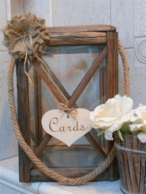 Best 25  Rustic card boxes ideas on Pinterest   Wedding