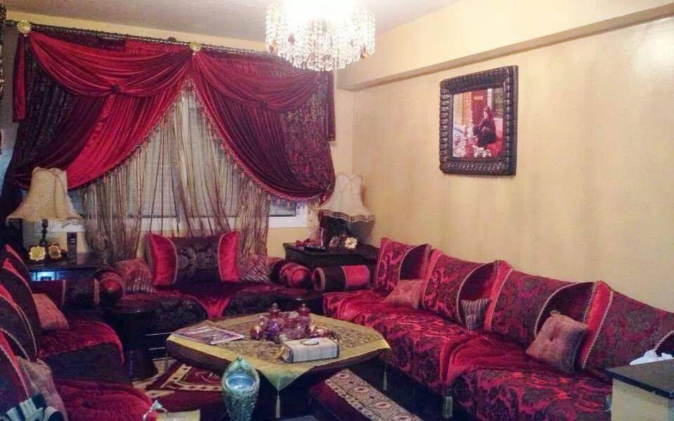 Modele De Decoration Salon Marocain Rouge Deco Salon Marocain