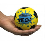 (Yellow) - Wave Runner Mega Sports Miniature Water Soccer ball 8.9cm Waterproof Bouncing Ball for all Ages (Yellow)