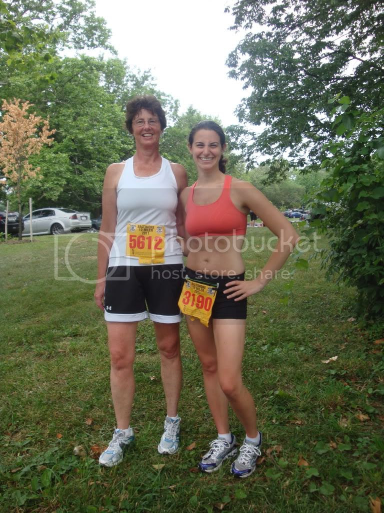 Mom and me post-race