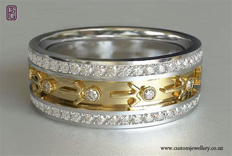 Seagul Motif Pacifica Yellow and White Gold Diamond