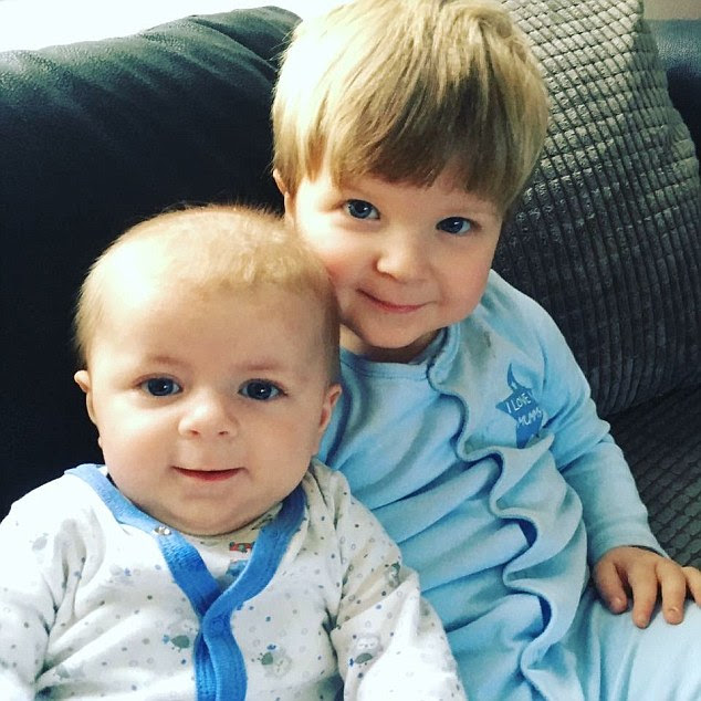 Archie Joe Darby, left, and Daniel-Jay, right, were attacked by a Staffordshire bull terrier at their home. Four month old Archie, was killed and Daniel suffered life changing injuries