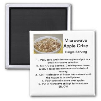 Apple Crisp Recipe Fridge Magnet