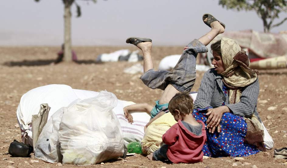 Refugiados en la frontera turco-siria
