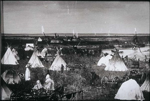 Cheyenne Village On Canadian River Cheyenne Village On