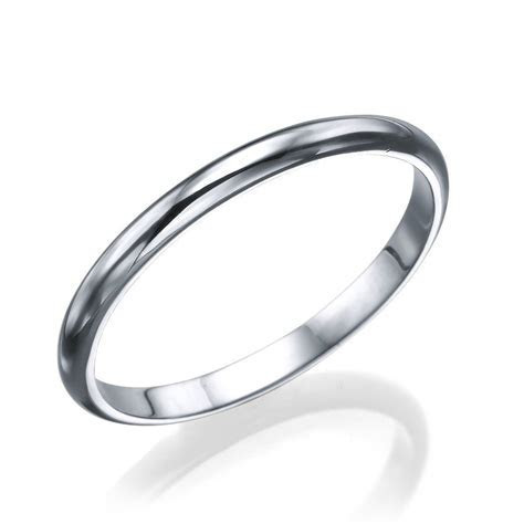 Platinum Men's Wedding Ring   2mm Rounded Design by Shiree