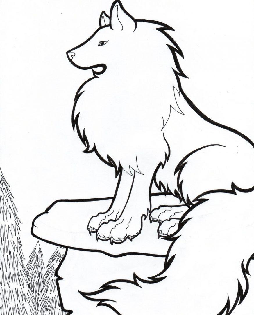 Dibujos De Lobos Para Pintar Imágenes Y Fotos